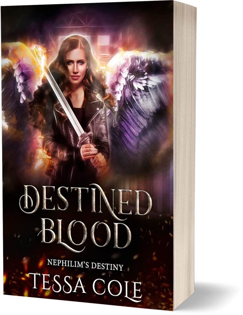 Destined Blood, a reverse harem paranormal romance and the second book in the Nephilim's Destiny series by Tessa Cole