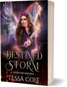 Destined Storm, a reverse harem paranormal romance and the fourth book in the Nephilim's Destiny series by Tessa Cole